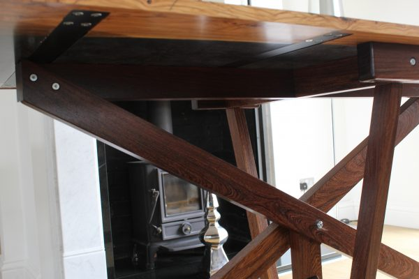 Black Resin Table Hand Crafted Legs