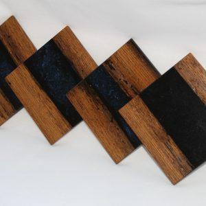 Panga Panga Black Resin Coasters
