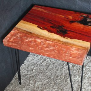 Rustic Rose Gold Side Table Hand Made